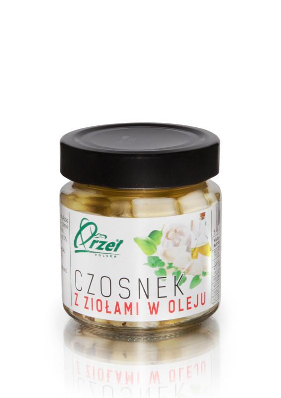 czosnek z ziołami w oleju firmy orzeł polska