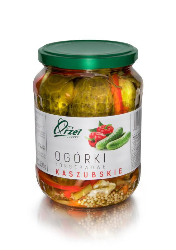 Ogórki konserwowe kaszubskie firmy Orzeł Polska